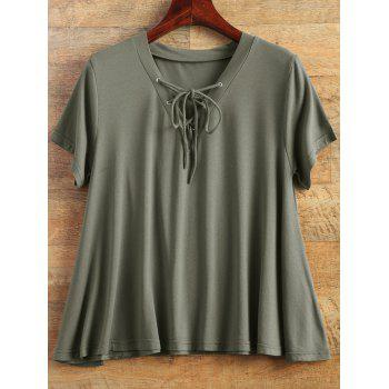 Flowy Short Sleeve Swing Tee