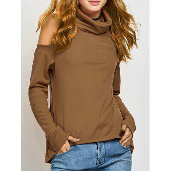 Turtle Neck Cold Shoulder Knitwear