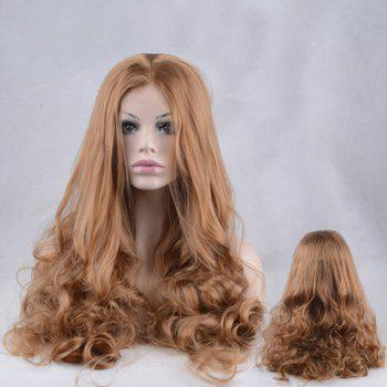 Long Shaggy Centre Parting Wavy Lace Front Synthetic Wig