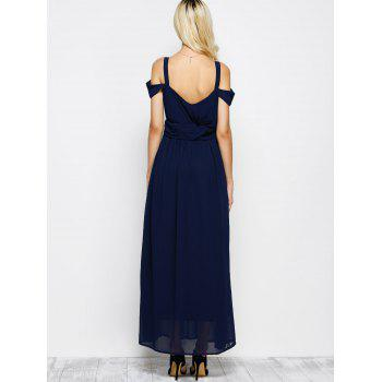 Cold Shoulder Chiffon Split Maxi Long Evening Dress - 2XL 2XL
