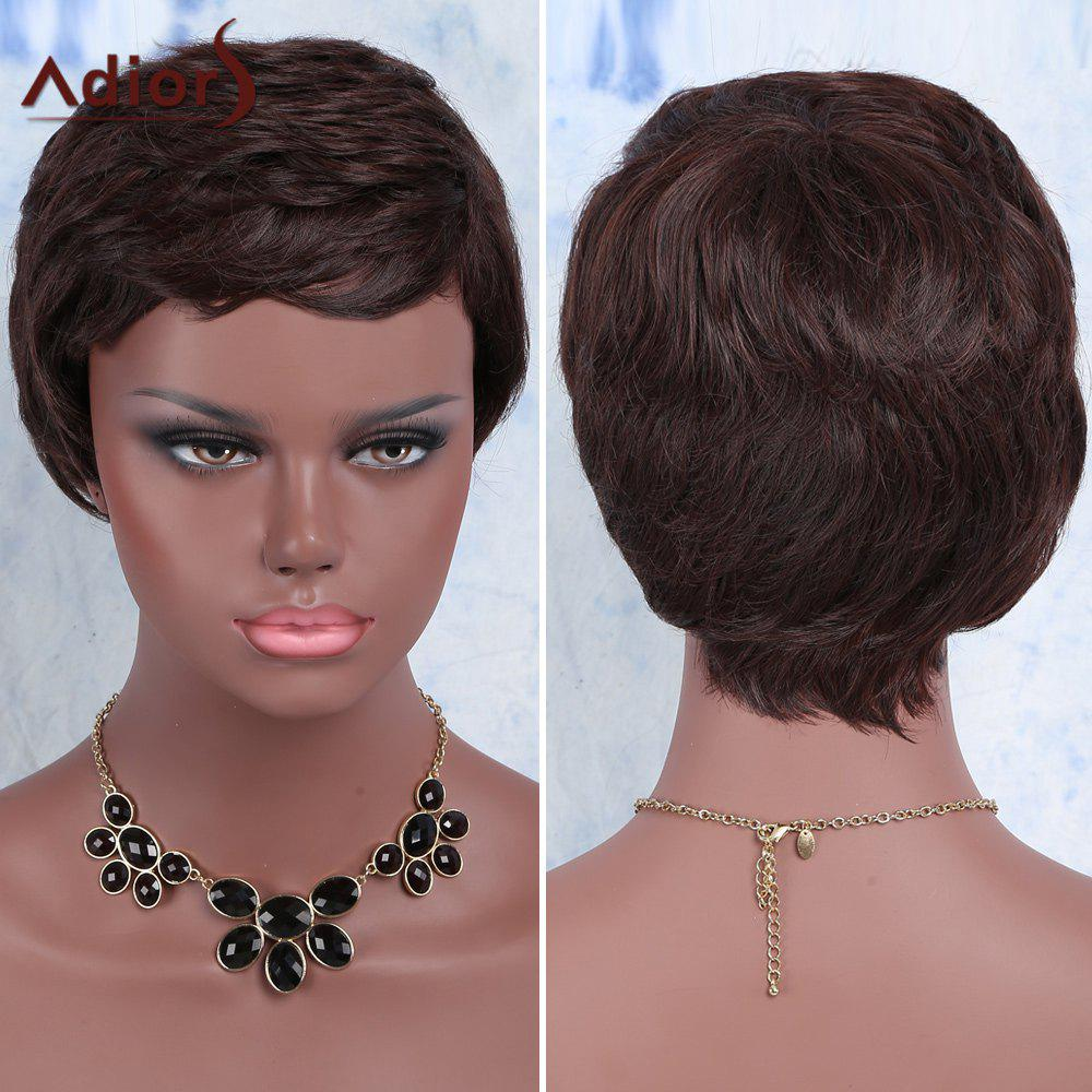 Adiors Hair Synthetic Curly Ultrashort WigHair<br><br><br>Color: BROWN