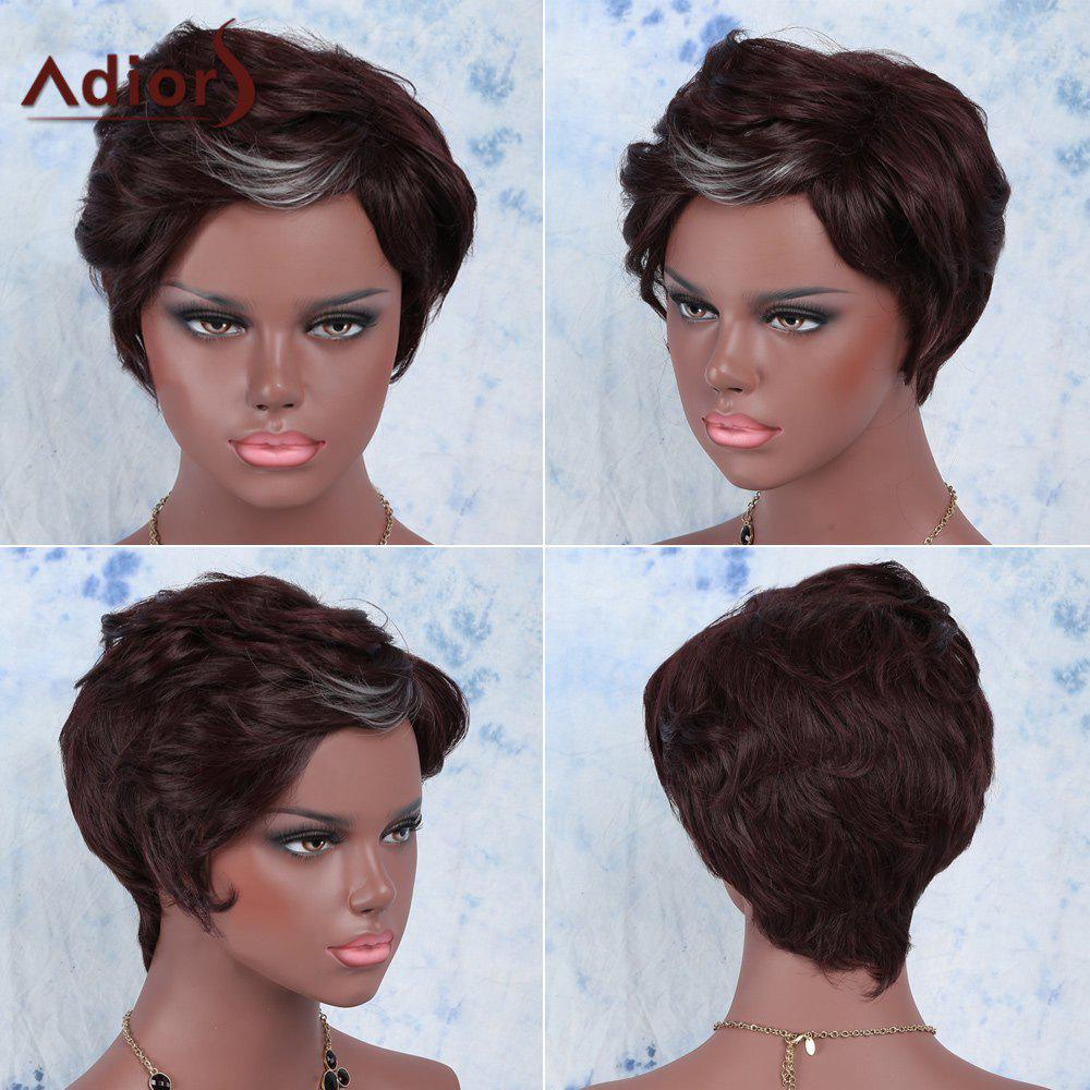 Adiors Hair Short Highlights Straight Synthetic Wig - COLORMIX