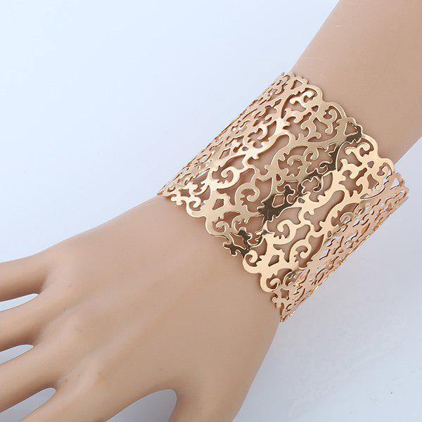 Hollowed Filigree Cuff Bracelet hollowed filigree cuff bracelet