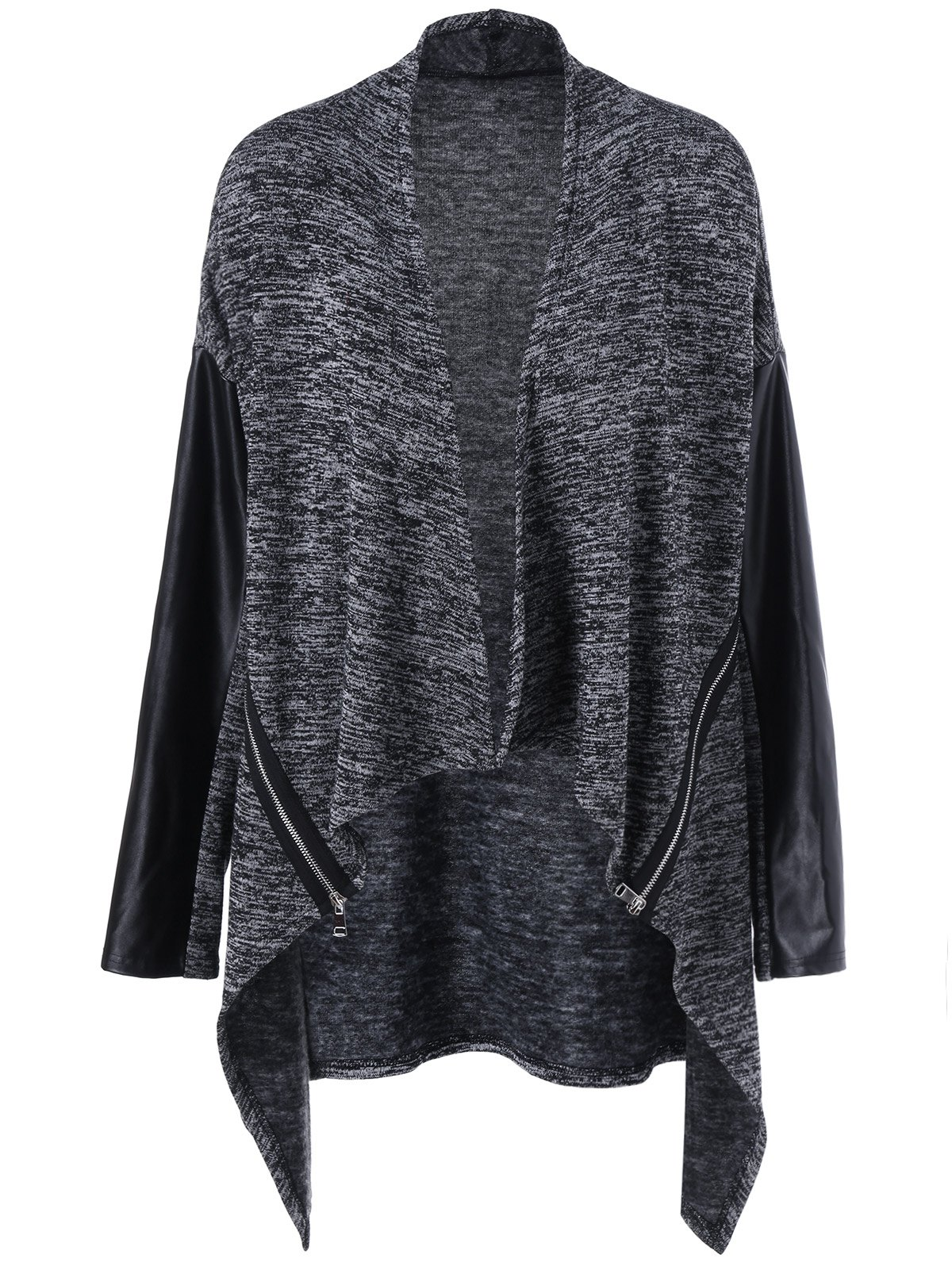 Asymmetrical Open Front Plus Size Knit Cardigan inc new gray women s size small ps petite open front ribbed cardigan sweater $79
