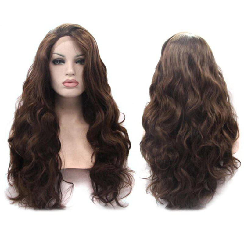 Synthetic Long Wavy Fascinating Lace Front Wig dark to brown body wavy ombre synthetic lace front wig ombre synthetic lace front wig cosplay heat resistant