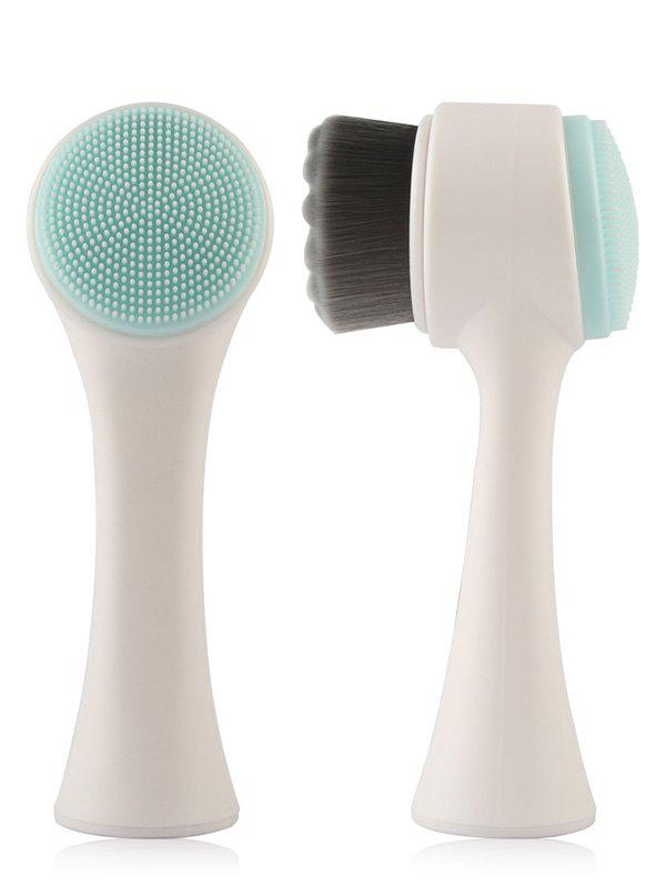 Multifunction Nylon Facial Cleansing Brush - BLACK
