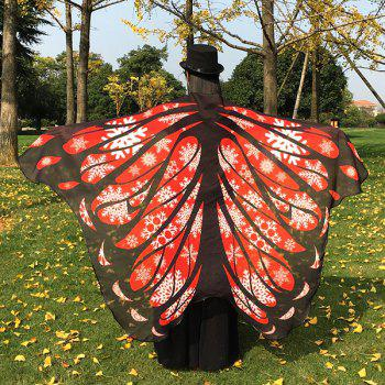 Christmas Snowflake Chiffon Butterfly Wing Cape