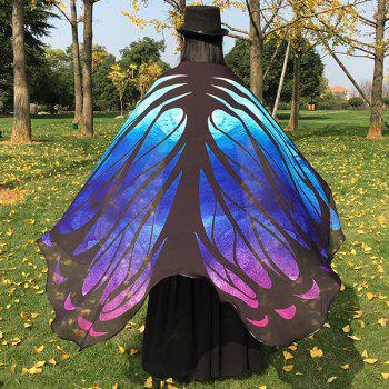 Galaxy Chiffon Butterfly Wing Cape - BLUE
