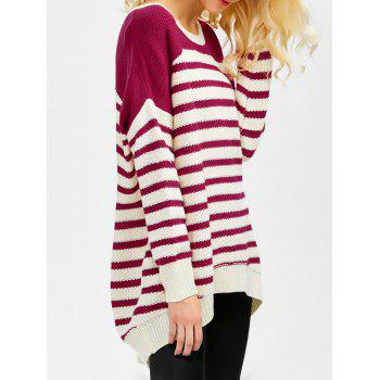 Red High Low Sweater Cheap Casual Style Online Free Shipping at ...