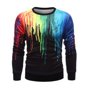 Paint Dripping Long Sleeve Sweatshirt