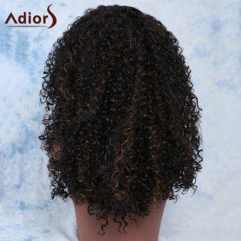 Fluffy Dark Brown Mixed Curly Fashion Long Synthetic Adiors Wig For Women - COLORMIX
