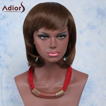 Sweet Brown Natural Wave Capless Short Haircut Synthetic Adiors Wig For Women