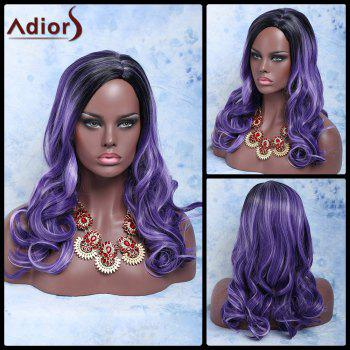 Long Double Color Wavy Side Parting Synthetic Wig