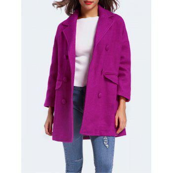 Double Breasted Wool Blend Coats