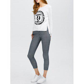 Long Sleeve Graphic Tee With Stripe Pants