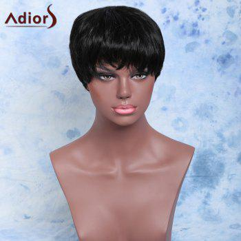 Short Capless Handsome Straight Full Bang Synthetic Wig