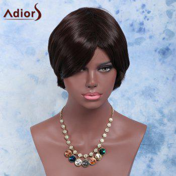 Double Color Straight Short Side Bang Synthetic Wig