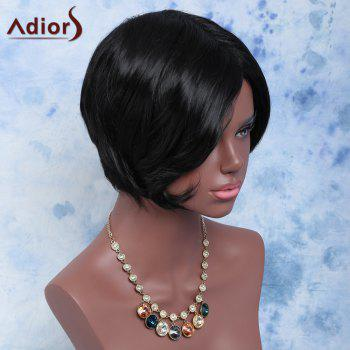 Towheaded Straight Short Side Bang Synthetic Wig