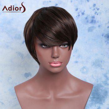 Manly Double Color Straight Short Side Bang Synthetic Wig