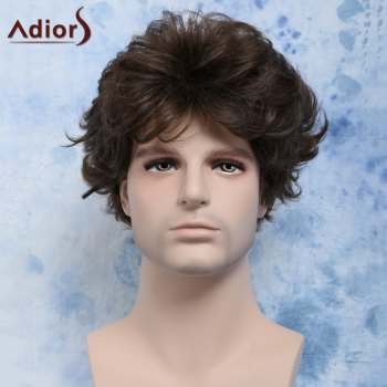 Manly Curly Short Heat Resistant Fiber Men's Wig