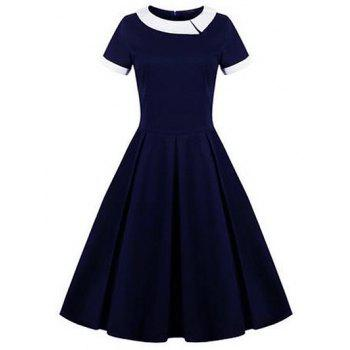 Retro Panel Ball Dress
