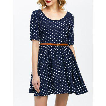Polka Dot Vintage Dress With Belt