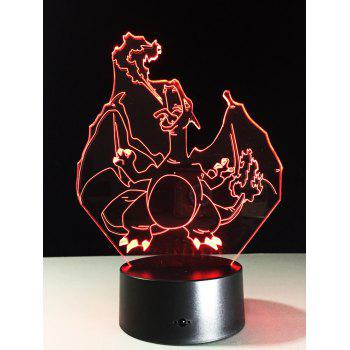 3D Visual 7 Color Changing Touch Switch LED Night Light