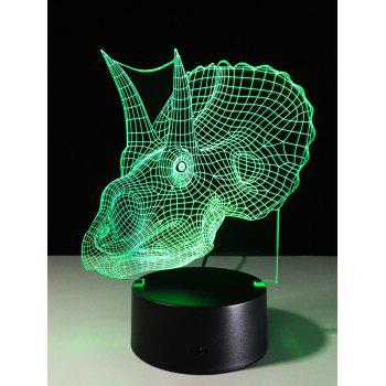 3D Visual Dinosaur 7 Color Changing Touch Switch LED Night Light - COLORFUL