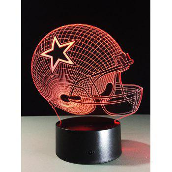 Home Decor 3D Rugby 7 Color Change Touch LED Night Light
