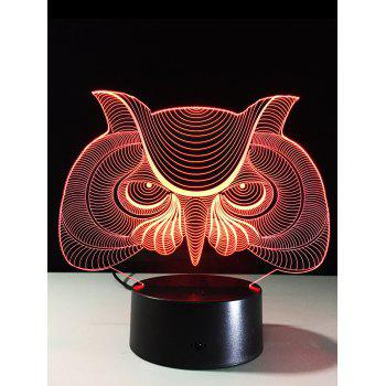 LED 3D Visual Color Change Owl Touch Table Night Light