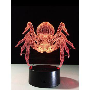 3D Visual Crab 7 Color Changing Touch LED Kids Night Light