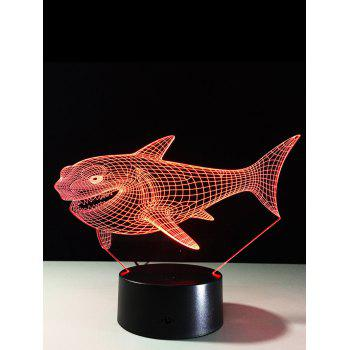 3D Visual Shark 7 Color Changing Touch LED Table Night Light