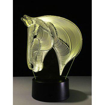 LED Colorful Gradient Touch 3D Visual Horse Night Light