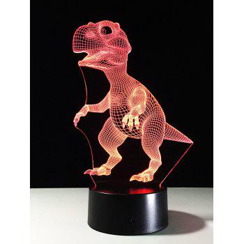 LED Color Change Touch Switch 3D Dinosaur Night Light