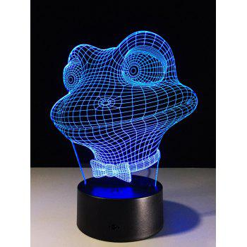 3D Frog Visual 7 Color Changing Touch Switch LED Night Light - COLORFUL