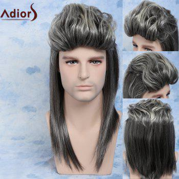 Men Ombre Color Mullet Hairstyle Cosplay Synthetic Wig