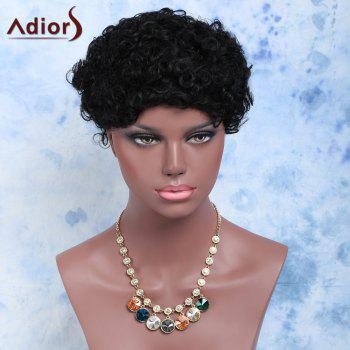 Short Side Bang Afro Curly Cosplay Synthetic Wig