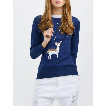 Sequin Knit Pullover Sweater