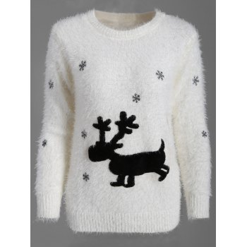 Christmas Pullover Fuzzy Sweater