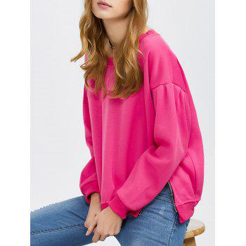 Drop Shoulder Side Zip Pullover Sweatshirt