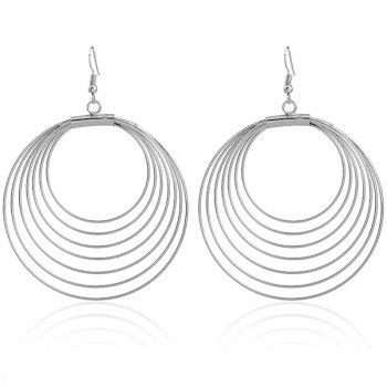 Multilayered Circle Drop Earrings