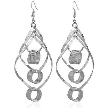 Leaf Hollow Out Circle Earrings