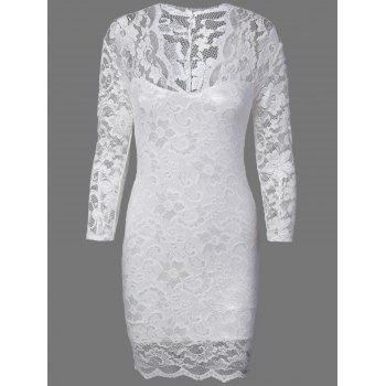 Floral Lace Skinny Slimming Dress