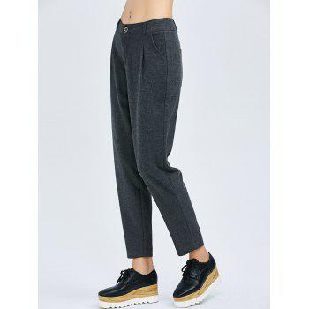 Wool Blend Cigarette Pants
