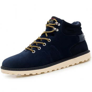 Eyelets Lace Up Suede Short Boots