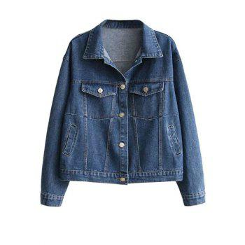Boyfriend Thin Jean Jacket with Sleeve