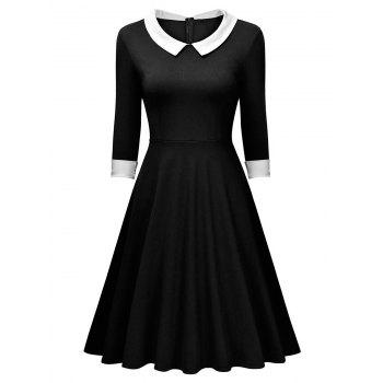 Retro Women Long Sleeve Dress