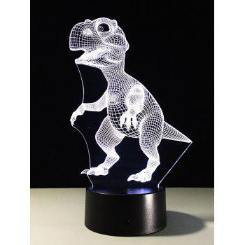 LED Color Change Touch Switch 3D Dinosaur Night Light - COLORFUL