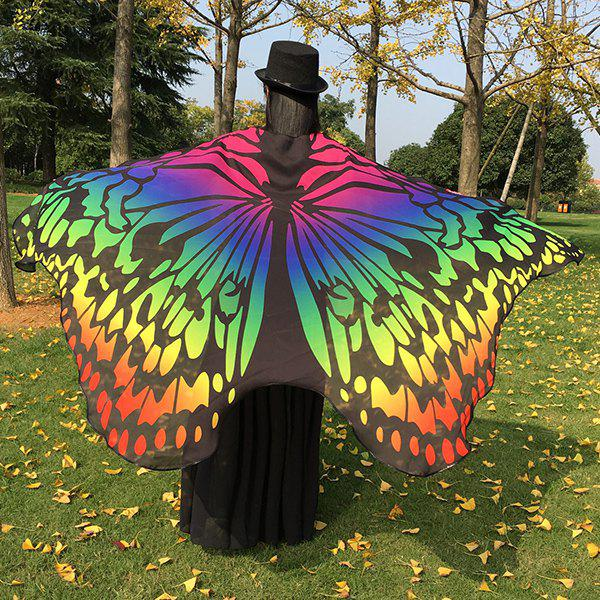 Colorful Ombre Chiffon Butterfly Wing CapeAccessories<br><br><br>Color: COLORFUL