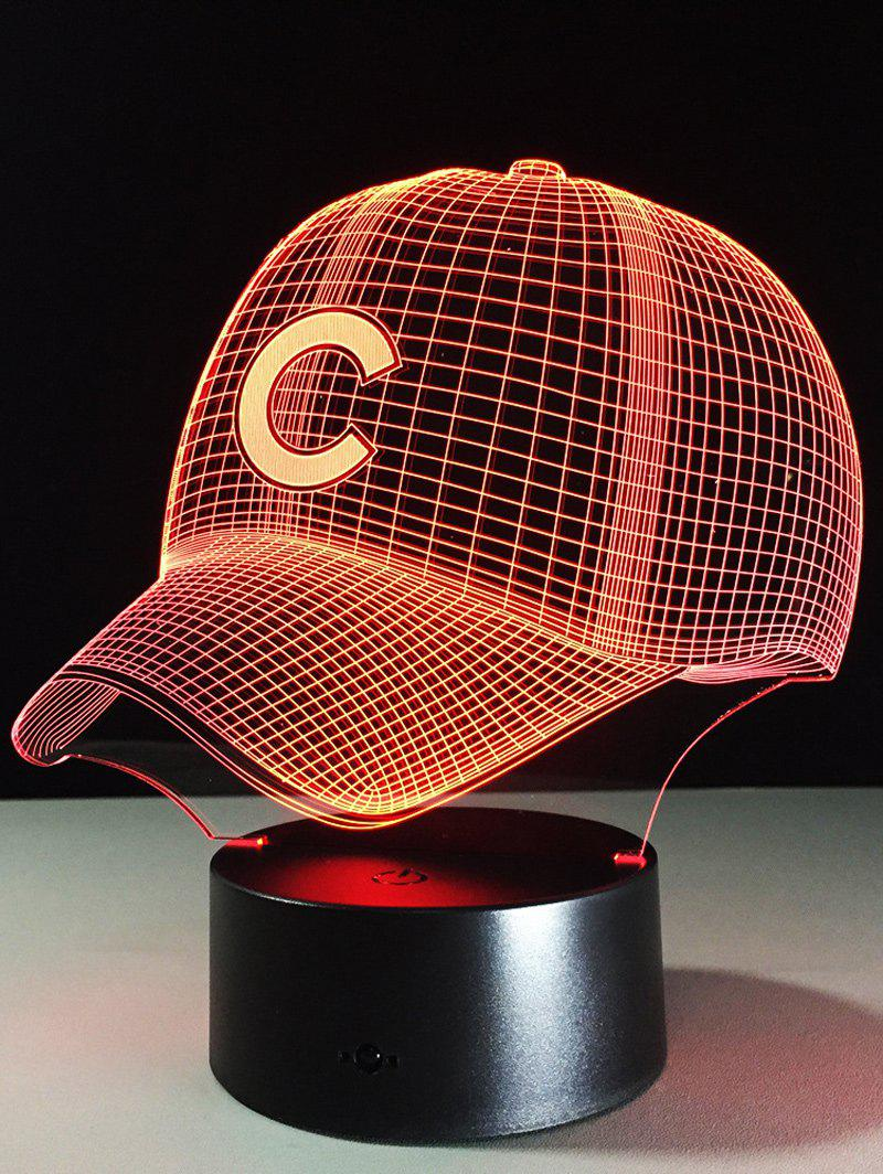 LED 3D Visual Color Change Baseball Cap Touch Night Light creative 3d visual color changing led touching night light